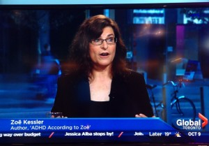 Author Zoë Kessler, ADHD According to Zoë, Global TV Toronto, The Morning Show
